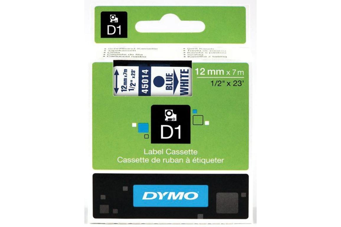 Beschriftungsband Dymo 12mmx7m schwarz weiss, Art.-Nr. 00450-SWWS - Paterno B2B-Shop