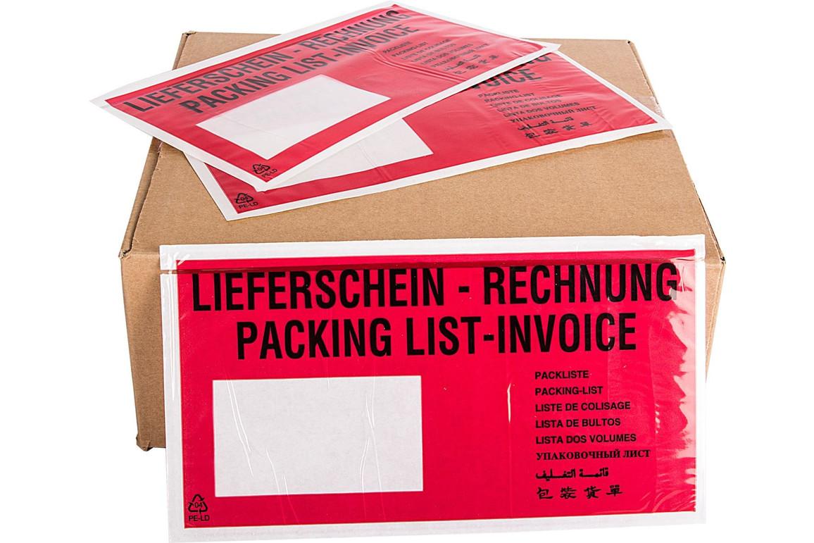 Begleittaschen C5/6 SK LS + RE - 250er Packung, Art.-Nr. 00529 - Paterno B2B-Shop