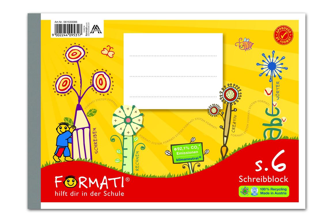 Heft Formati S6 A5 quer 48 Bl. lin., Art.-Nr. 061530086 - Paterno B2B-Shop