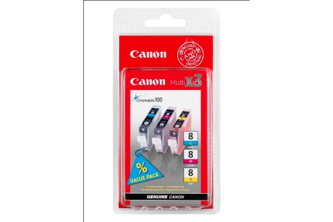 Canon CLI8 Multi Pack C/M/Y je 13ml, Art.-Nr. 0621B029 (0621B026) - Paterno B2B-Shop
