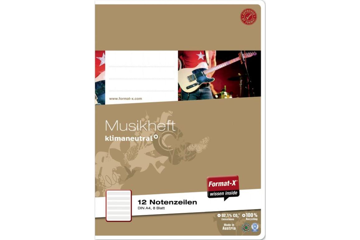 Notenheft Format X A4 8 Blatt, Art.-Nr. 076408 - Paterno B2B-Shop