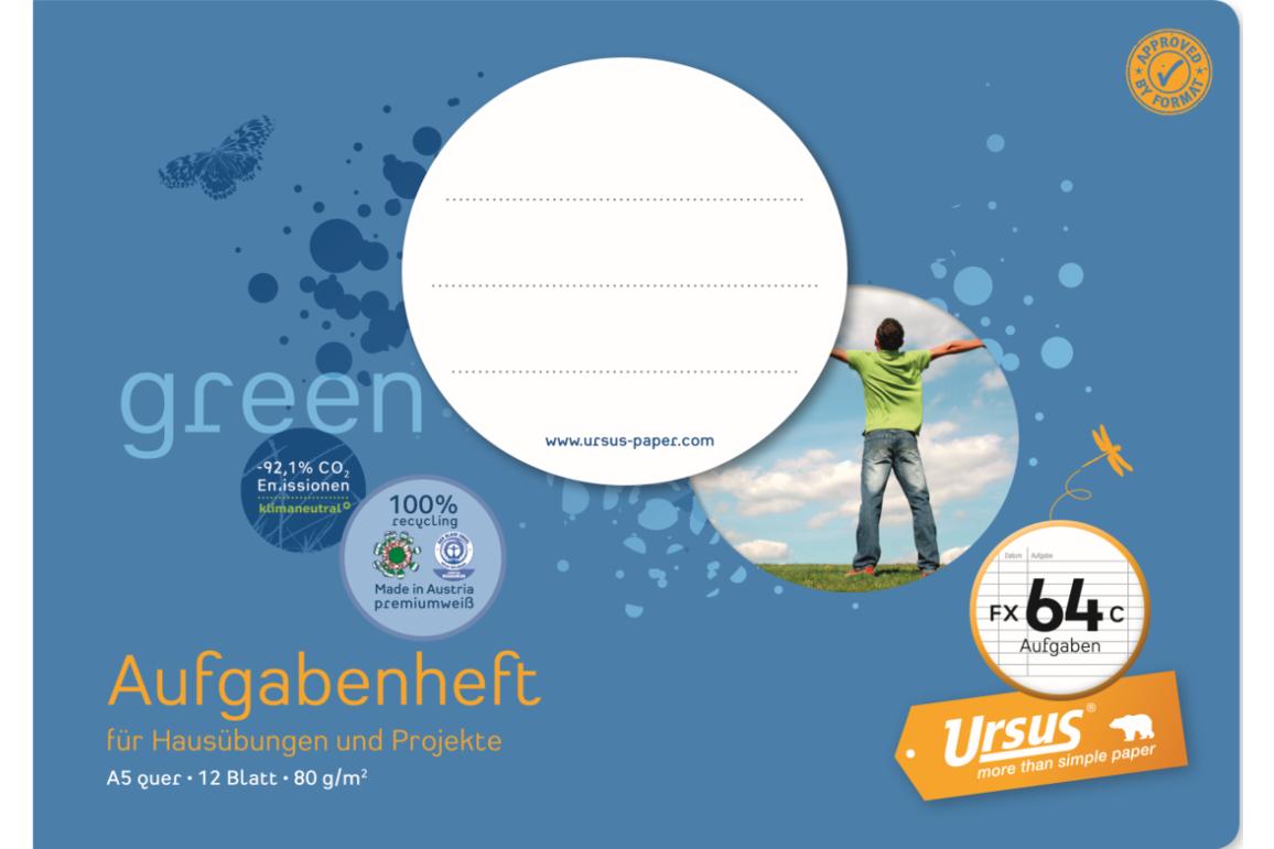 Aufgabenheft Ursus A5 quer 16 Blatt, Art.-Nr. 078516 - Paterno B2B-Shop