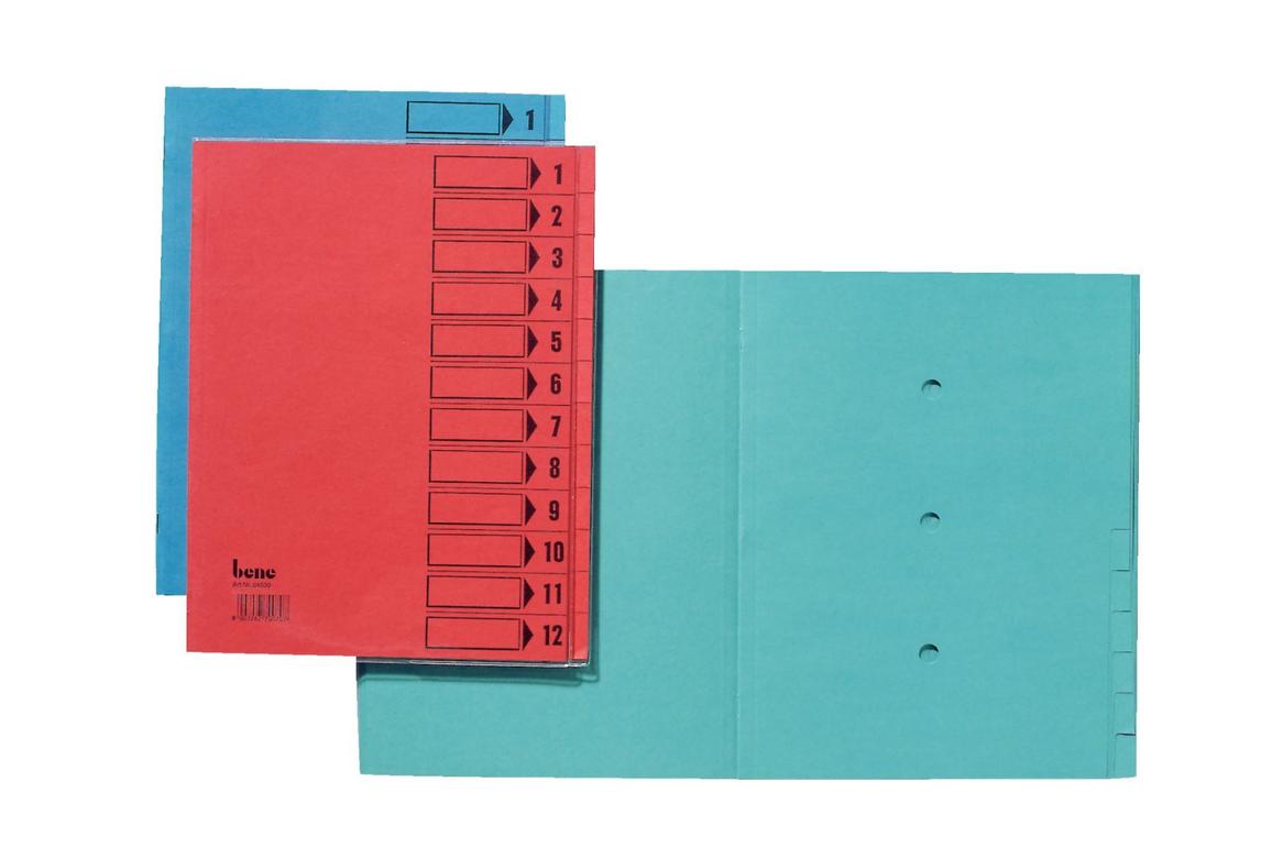 Ordnungsmappe Bene 12-teilig intensivblau, Art.-Nr. 084800-BL - Paterno B2B-Shop