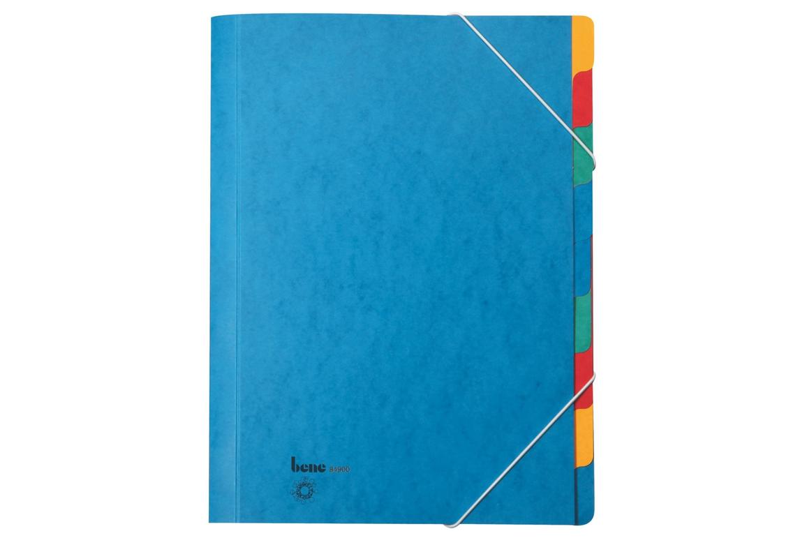 Ordnungsmappe Bene A4 9-teilig Blau, Art.-Nr. 084900 - Paterno B2B-Shop