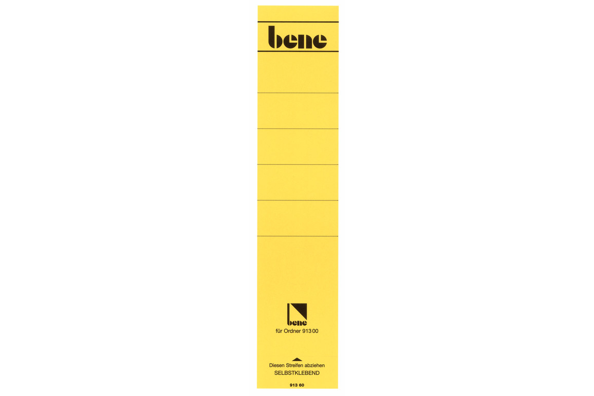 Rückenschilder Bene für 91300 gelb, Art.-Nr. 091360-GE - Paterno B2B-Shop