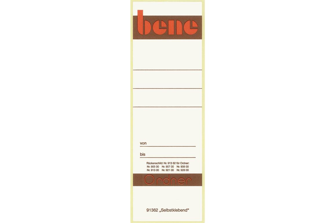 Rückenschilder Bene für 91300 weiss, Art.-Nr. 091362 - Paterno B2B-Shop