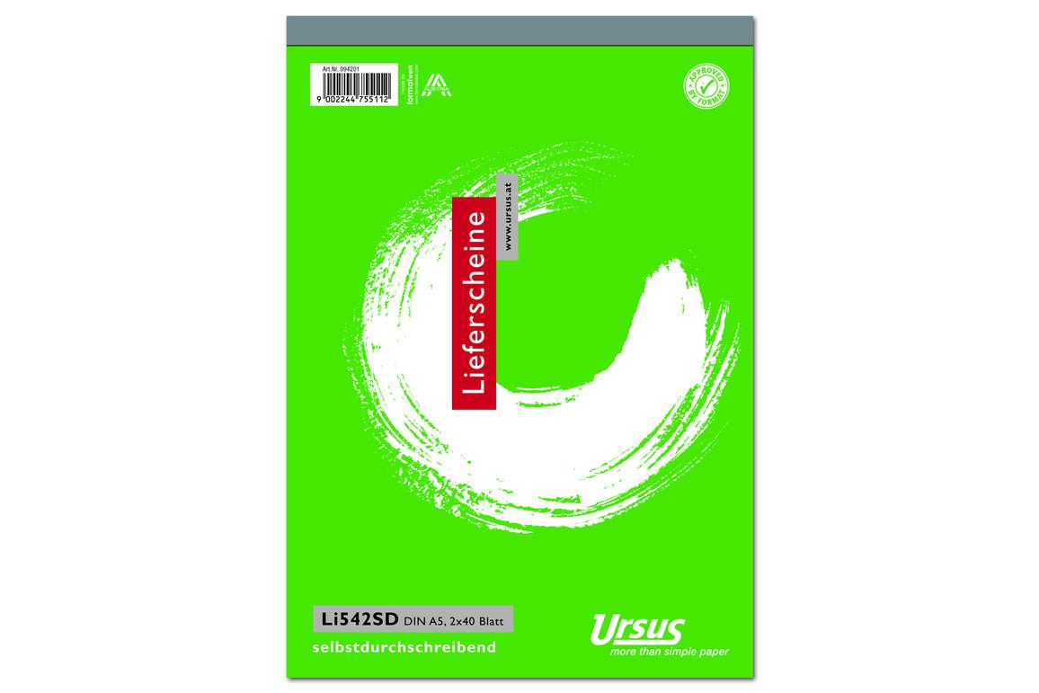 Lieferscheinbuch LI542SD A5 hoch 2x40 Blatt, Art.-Nr. 094201 - Paterno B2B-Shop