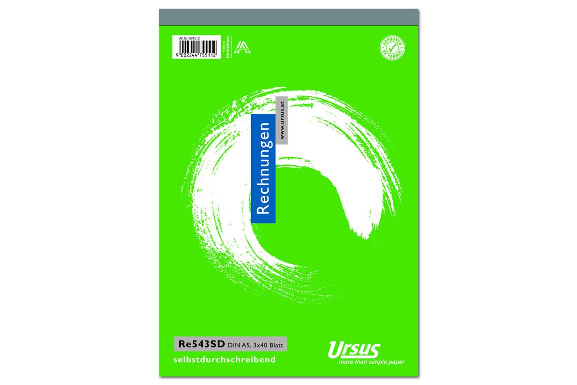 Rechnungsbuch RE543SD A5 hoch 3x40 Blatt, Art.-Nr. 094212 - Paterno B2B-Shop