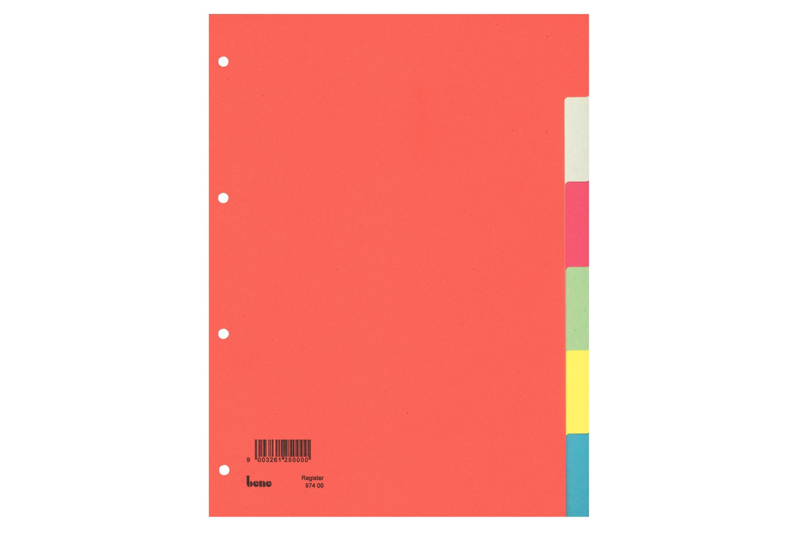 Farbregister Bene A4 6-teilig, Art.-Nr. 097400 - Paterno B2B-Shop