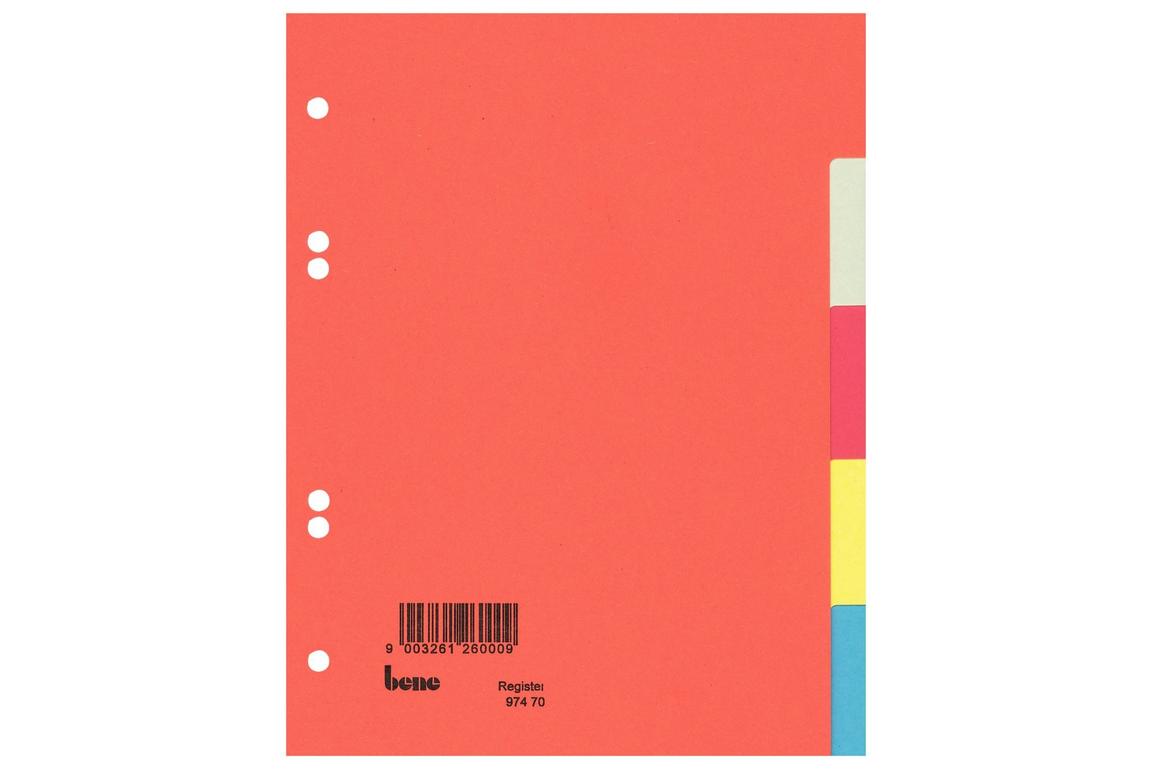 Farbregister Bene A5 5-teilig, Art.-Nr. 097470 - Paterno B2B-Shop