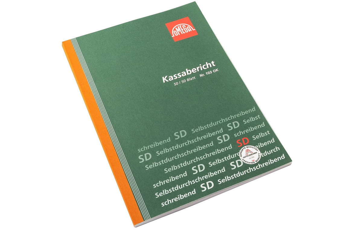 Kassabericht Omega A4 2x50 Blatt, Art.-Nr. 103O - Paterno B2B-Shop