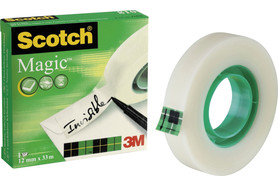Klebeband Scotch Magic 12mmx33lfm, Art.-Nr. 11256