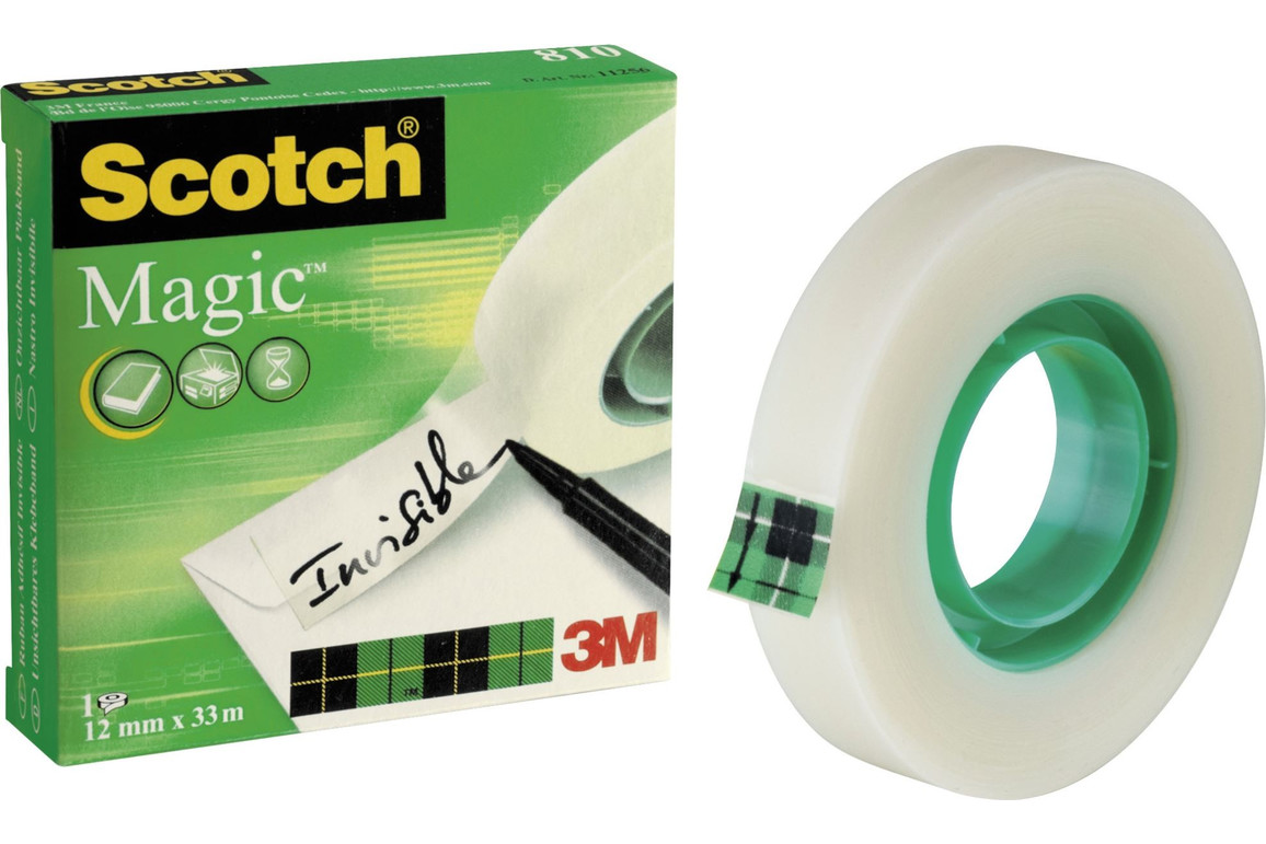 Klebeband Scotch Magic 12mmx33lfm, Art.-Nr. 11256 - Paterno B2B-Shop
