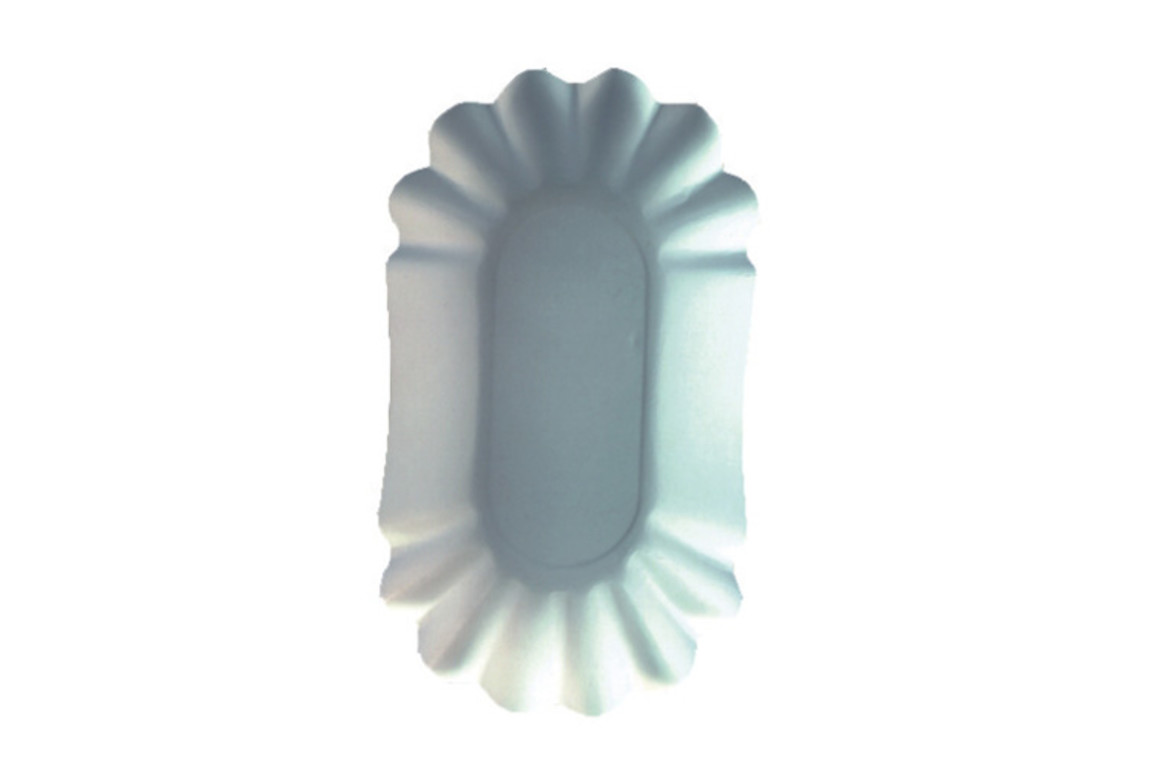 Pommesschale oval 10,5x17,5x3 cm weiß, Art.-Nr. 11273 - Paterno B2B-Shop
