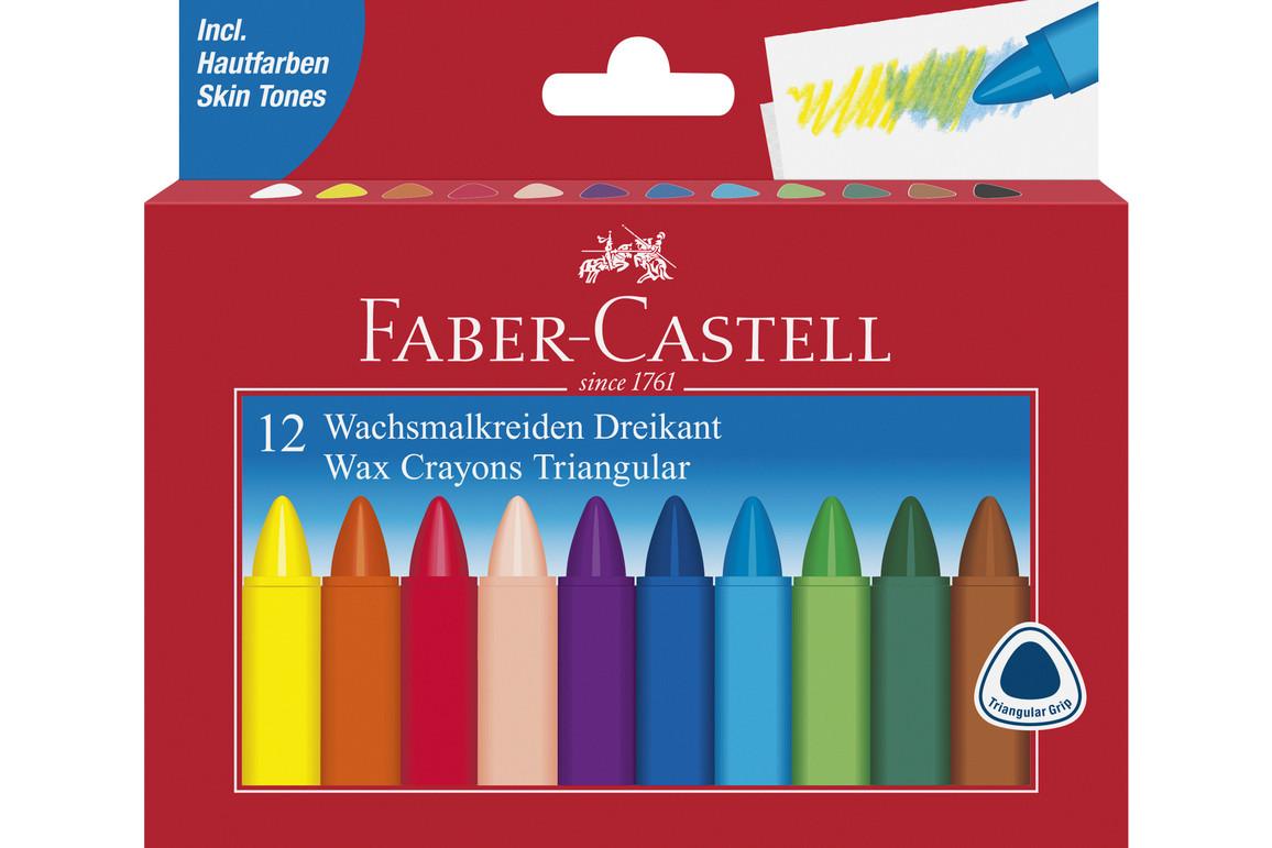 Wachskreiden Faber Castell dreikant 12er, Art.-Nr. 120010 - Paterno B2B-Shop