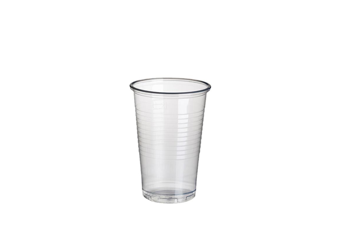 Trinkbecher 0,2 Liter transparent mit Füllstrich, Art.-Nr. 12149 - Paterno B2B-Shop