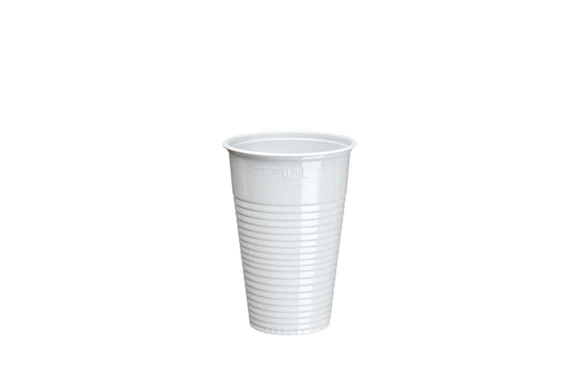 Trinkbecher 0,2 Liter weiß mit Füllstrich, Art.-Nr. 12156 - Paterno B2B-Shop