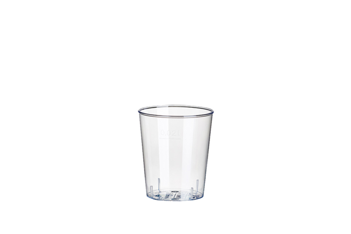Gläser Schnaps PAP STAR 2 cl glasklar, Art.-Nr. 12158 - Paterno B2B-Shop