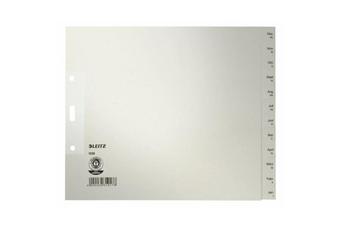 Register Leitz Monate 240x200 mm grau, Art.-Nr. 1230-00-85 - Paterno B2B-Shop