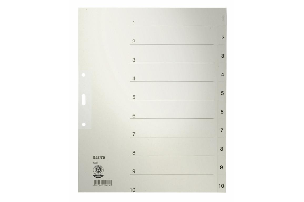 Register Leitz A4 1-10 grau, Art.-Nr. 1232-00-85 - Paterno B2B-Shop