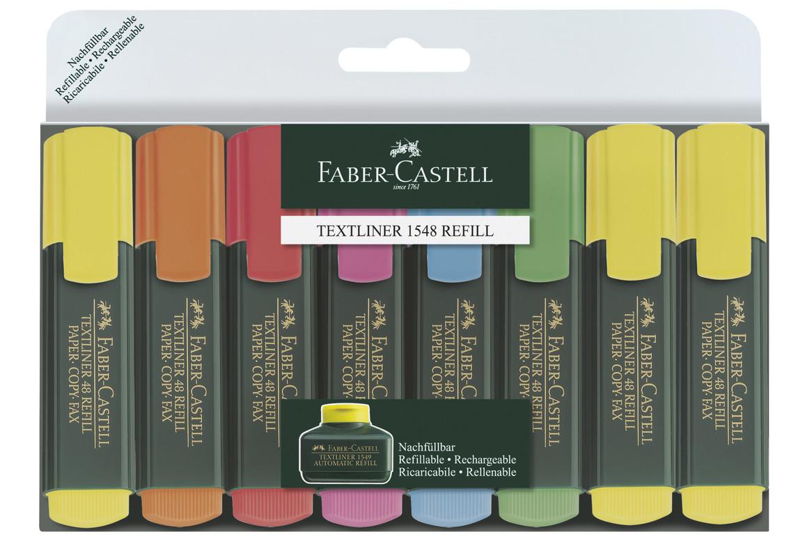 Textmarker Faber Castell 8-er Set, Art.-Nr. 154862 - Paterno B2B-Shop
