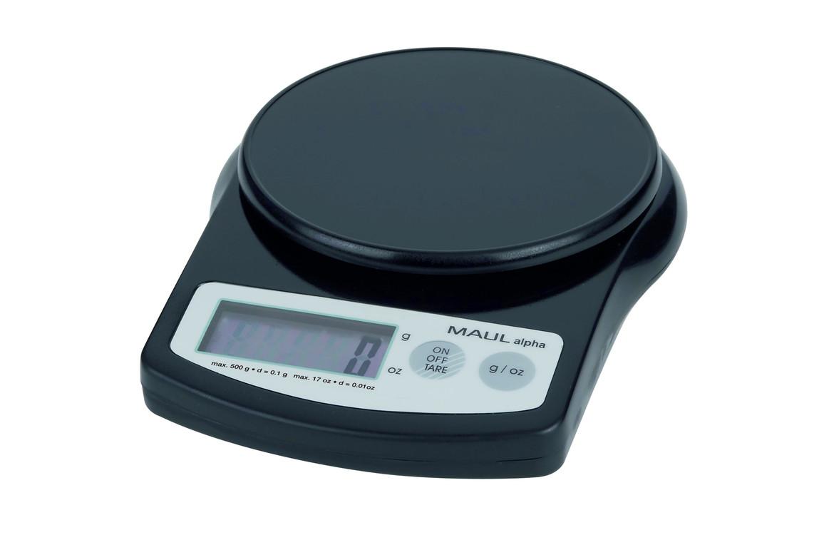 Briefwaage MAULalpha 0,5 kg schwarz, Art.-Nr. 1640590 - Paterno B2B-Shop