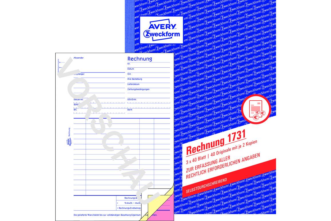 Rechnungsbuch ZWF, DIN A5 hoch, Art.-Nr. 1731ZWF - Paterno B2B-Shop