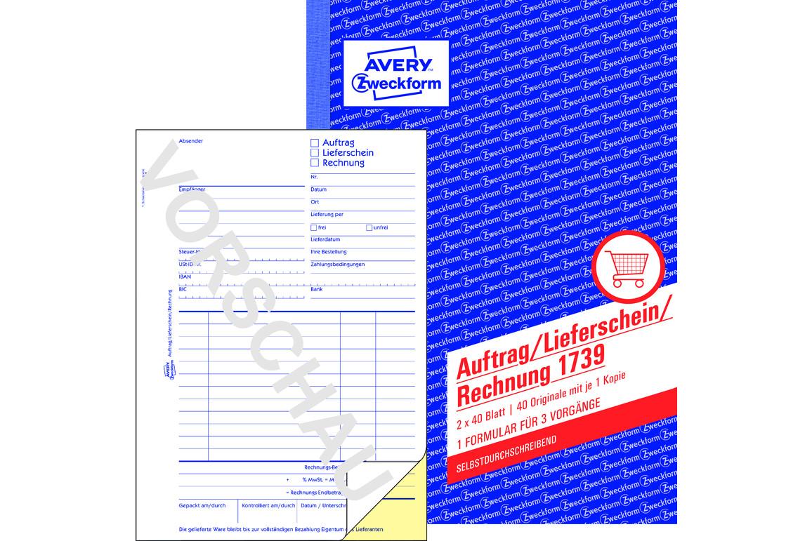 Auftrag/Lieferschein/Rechnung, ZWF A5, Art.-Nr. 1739ZWF - Paterno B2B-Shop