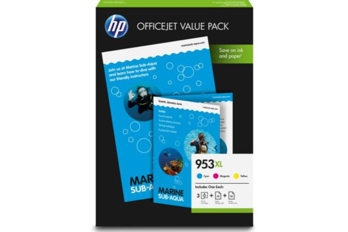 HP Nr.953XL Office Value Pack Inks+Photo Paper, Art.-Nr. 1CC21AE - Paterno B2B-Shop