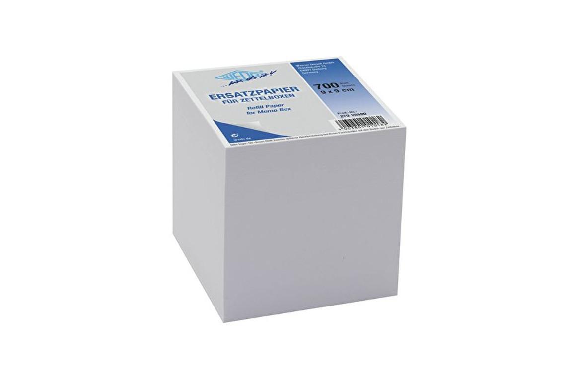 Ersatzpapier Wedo für Zettelbox 9x9 cm, Art.-Nr. 2702650.0 - Paterno B2B-Shop