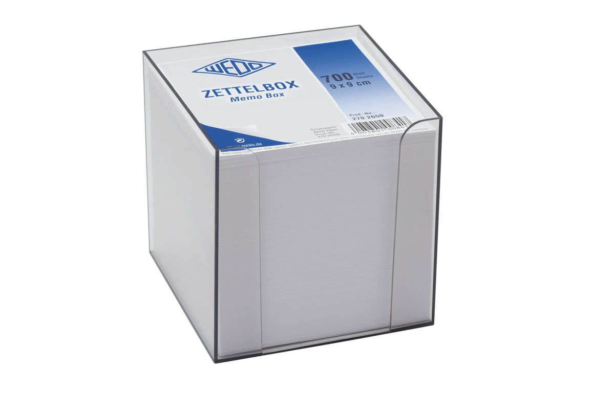 Zettelbox Wedo Kunststoff 9,5 x 9,5 cm, Art.-Nr. 2702650 - Paterno B2B-Shop
