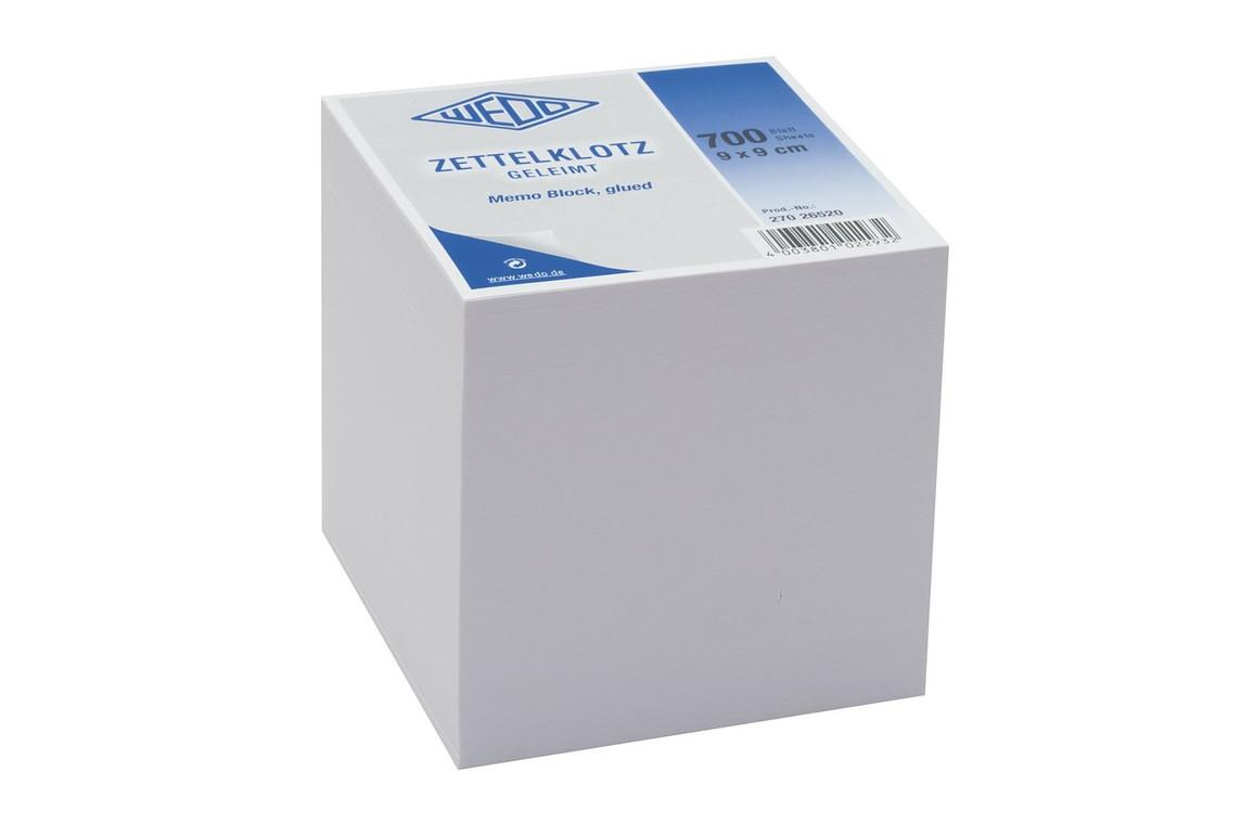 Würfelblock Wedo 9x9x9 cm weiß, Art.-Nr. 27026520 - Paterno B2B-Shop