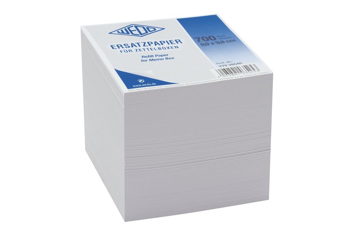 Ersatzpapier Wedo für Zettelbox 9,9x9,9 cm, Art.-Nr. 270265E-WS - Paterno B2B-Shop