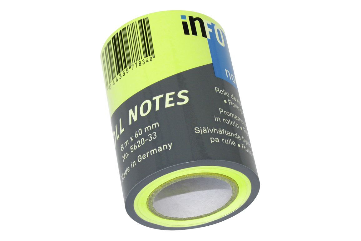 Haftnotizrolle Roll Notes 60mmx8lfm pink, Art.-Nr. 276PSM-PI - Paterno B2B-Shop