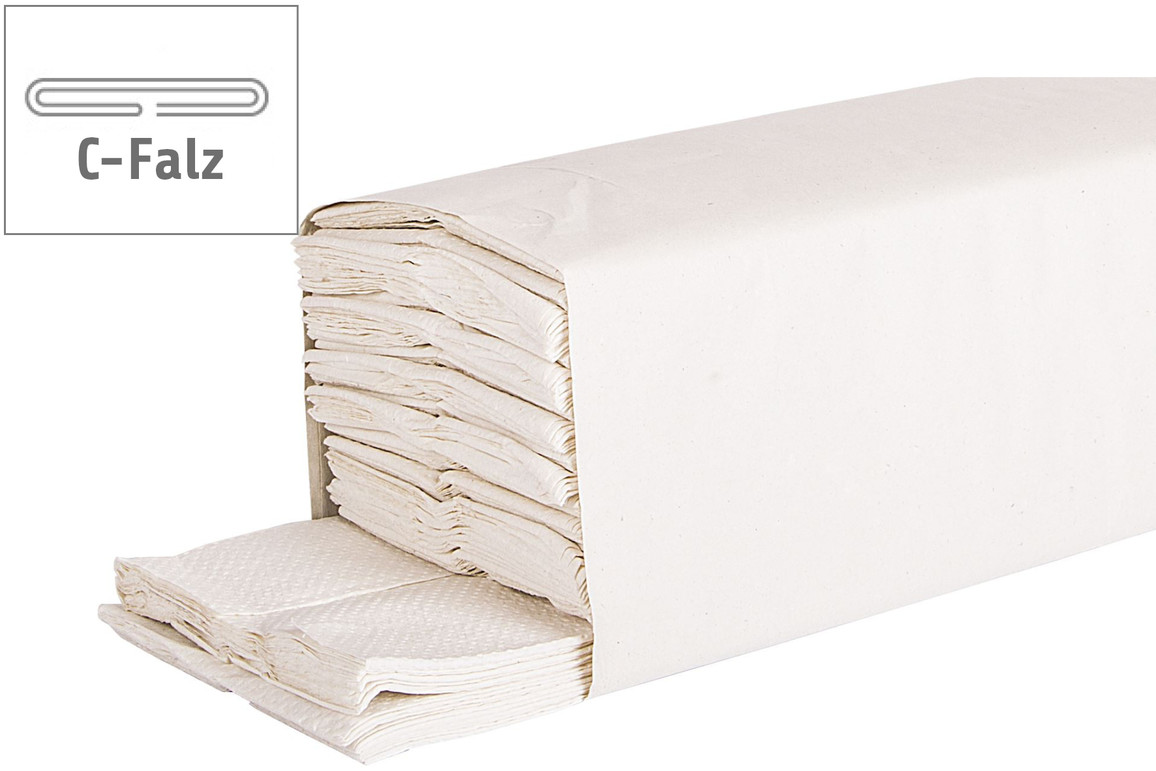 Papierhandtücher 2-lagig C-Falz recycling hochweiß, Art.-Nr. 277041 - Paterno B2B-Shop