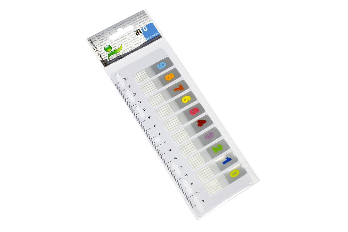 Haftmarker info page Zahlen 0-9, Art.-Nr. 27800000 - Paterno B2B-Shop