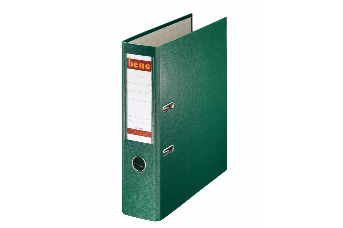 Ordner Bene Standard breit grün, Art.-Nr. 291400-GN - Paterno B2B-Shop