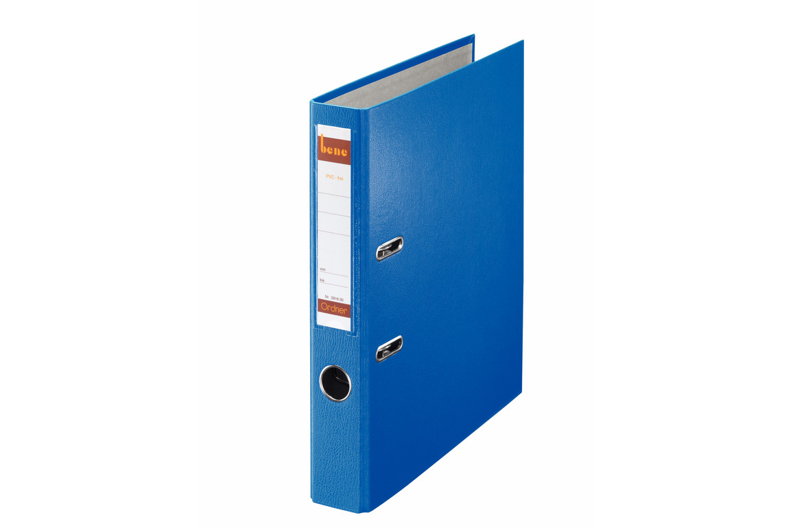 Ordner Bene Standard schmal blau, Art.-Nr. 291600-BL - Paterno B2B-Shop