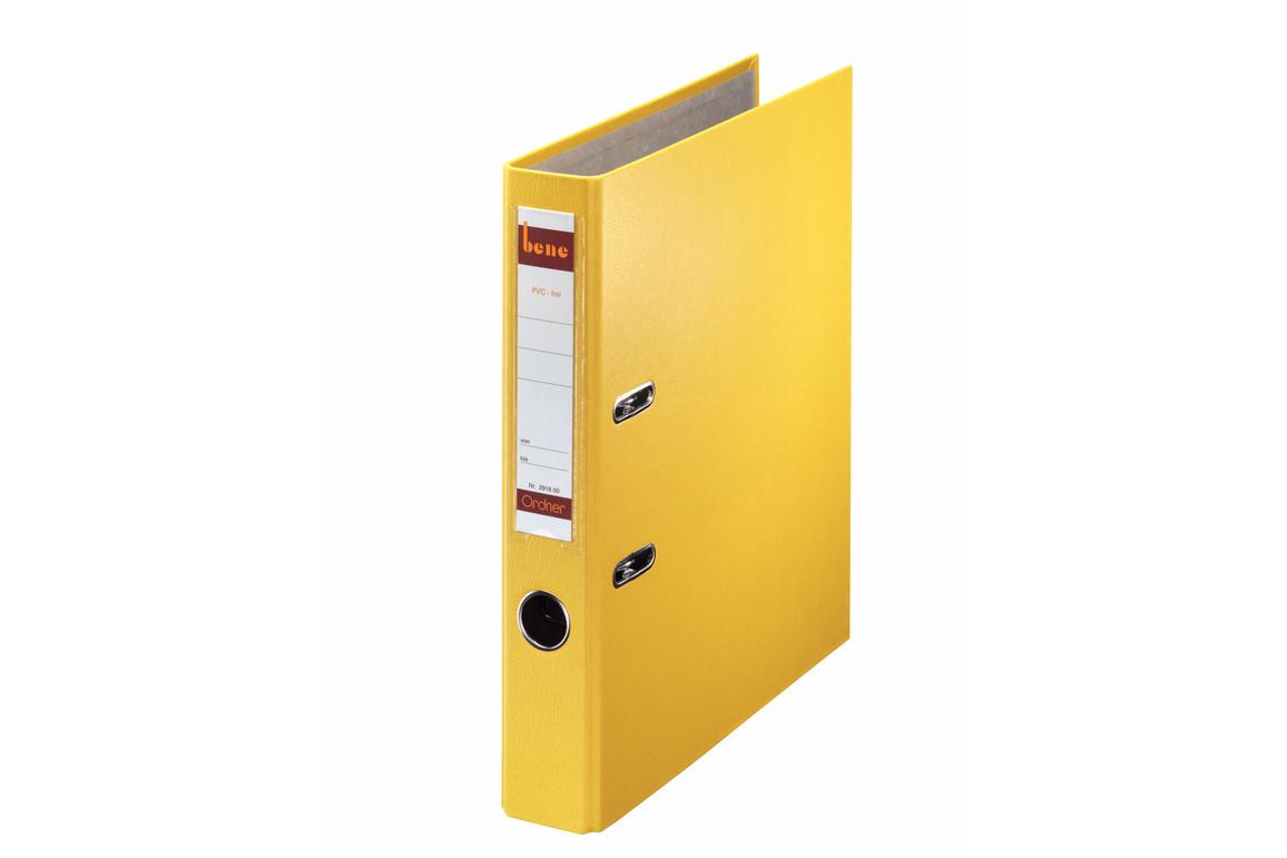Ordner Bene Standard schmal gelb, Art.-Nr. 291600-GE - Paterno B2B-Shop