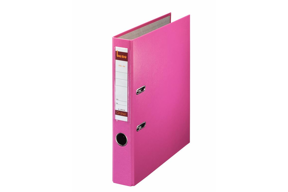 Ordner Bene Standard schmal rosa, Art.-Nr. 291600-RS - Paterno B2B-Shop