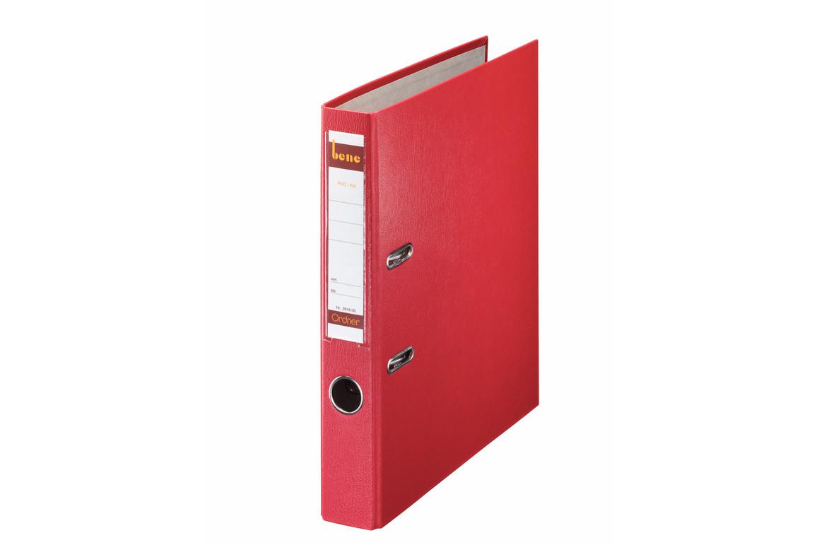 Ordner Bene Standard schmal rot, Art.-Nr. 291600-RT - Paterno B2B-Shop
