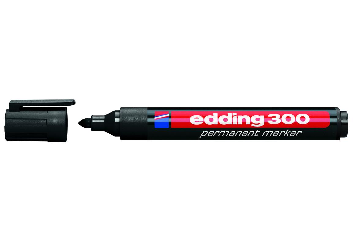 Marker Edding 300 permanent schwarz, Art.-Nr. 300-SW - Paterno B2B-Shop