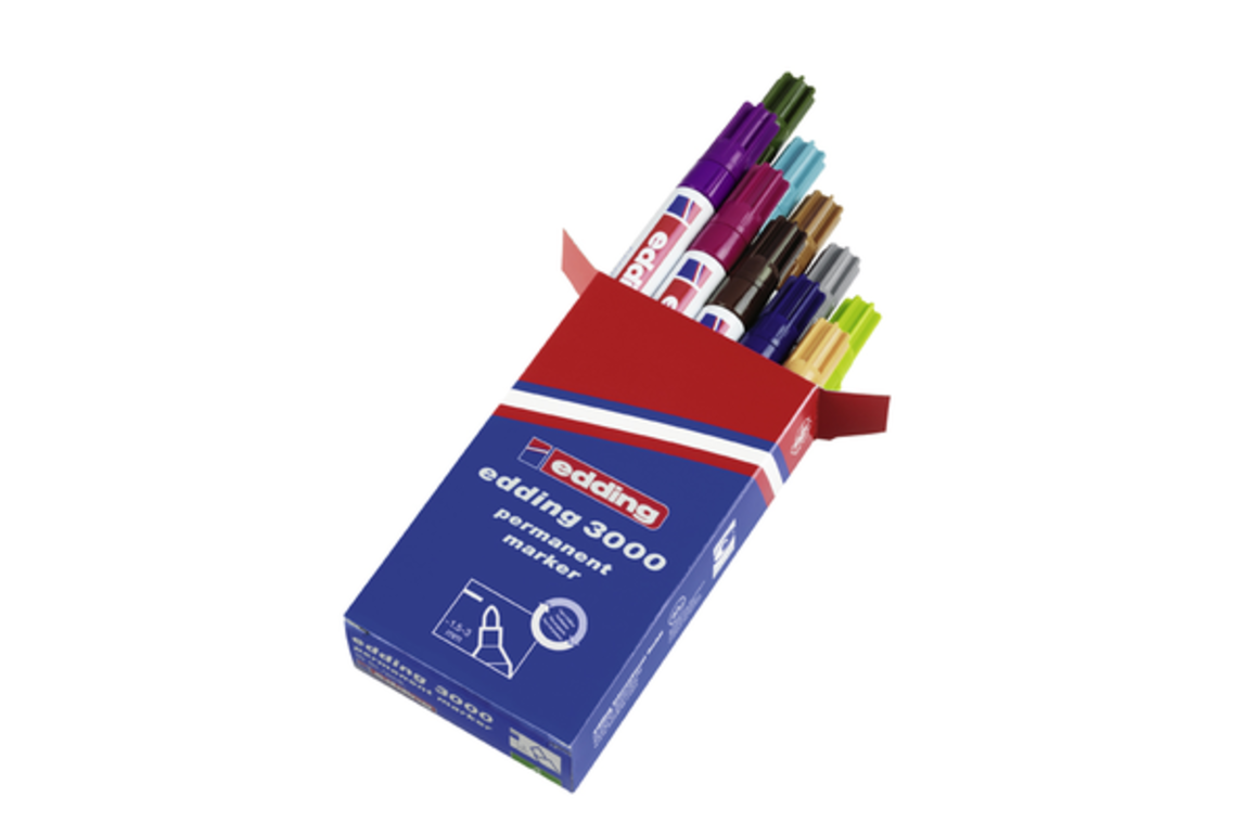 Marker Edding 3000 10-er Box, Art.-Nr. 3000-10S2 - Paterno B2B-Shop