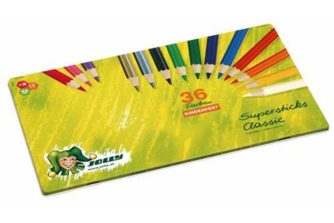 Farbstift Jolly SUPERSTICK 36er Metalletui, Art.-Nr. 300036 - Paterno B2B-Shop