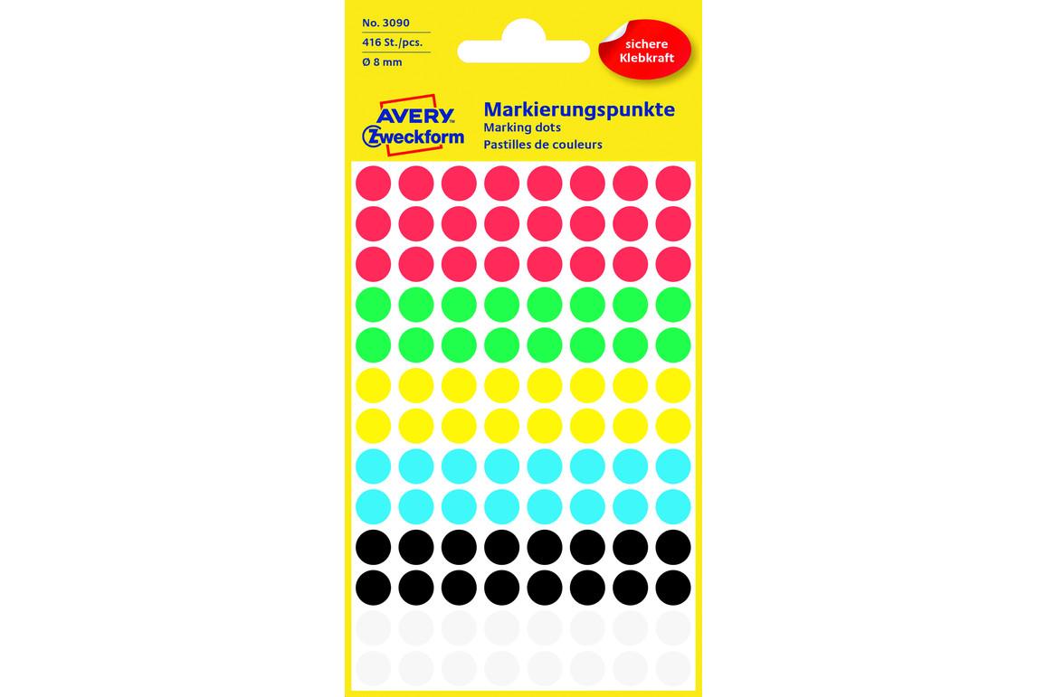 Markierungspunke ZWF Ø 8 mm, farbig sortiert, Art.-Nr. 3090ZWF - Paterno B2B-Shop