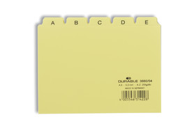 Leitregister Durable A6 quer A-Z 5/5-teilung, Art.-Nr. 3660 - Paterno B2B-Shop
