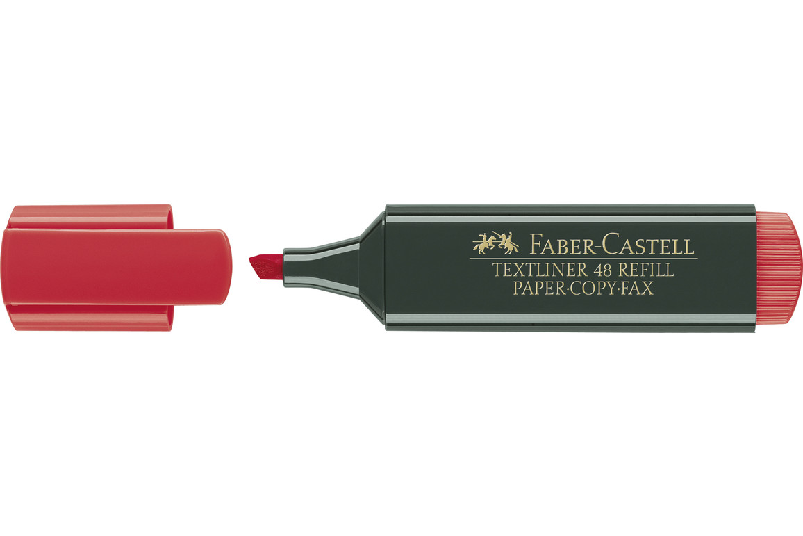 Textmarker Faber 48 rot, Art.-Nr. 48-RT - Paterno B2B-Shop