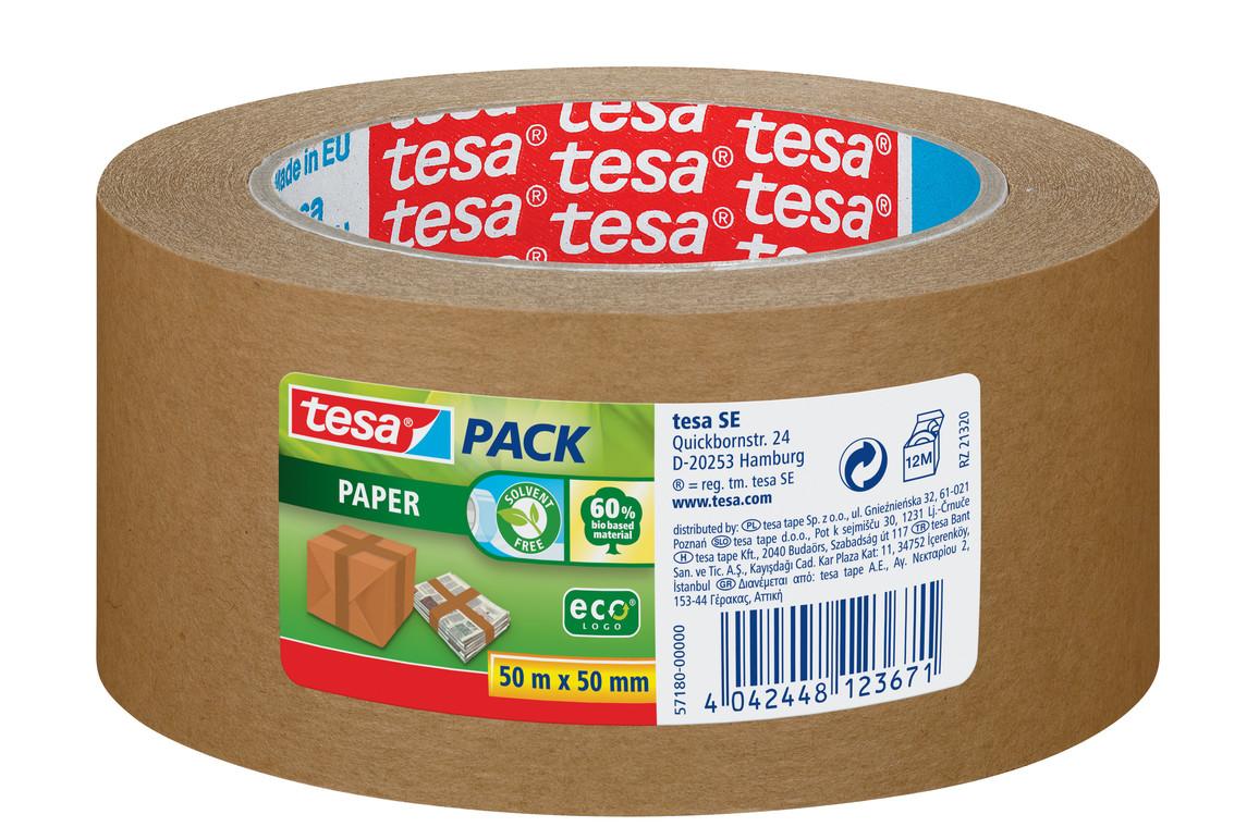 Papierklebeband Tesa 50 mm 50 lfm braun, Art.-Nr. 57180-00 - Paterno B2B-Shop