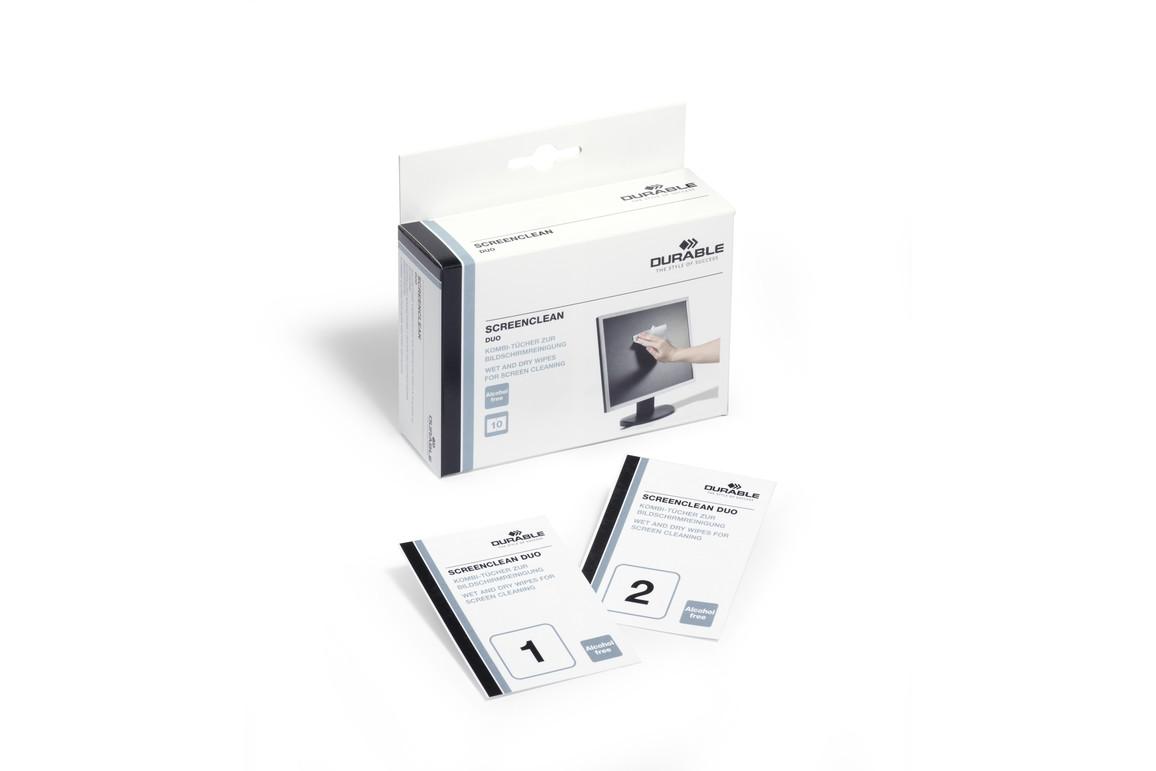Reinigungstücher Durable Screenclean Duo, Art.-Nr. 5721-02 - Paterno B2B-Shop