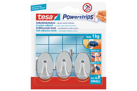 Powerstrips Tesa Haken Small chrom, Art.-Nr. 57543-2